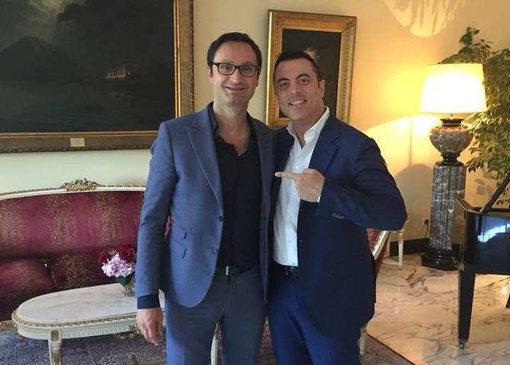 Alberico Cecchini e Frank Merenda - L'editore del Caffè a Lugano con il più noto autore e consulente di marketing e vendite