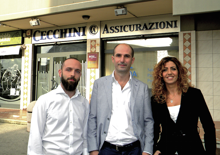 da sin. Giulio Giuliani, Andrea Cecchini ed Emanuela Missori