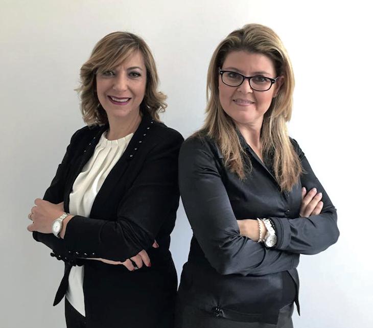 Rita Aureli e Giovanna D'Amore Fondatrici di Schune, ora affiliato Marco Post