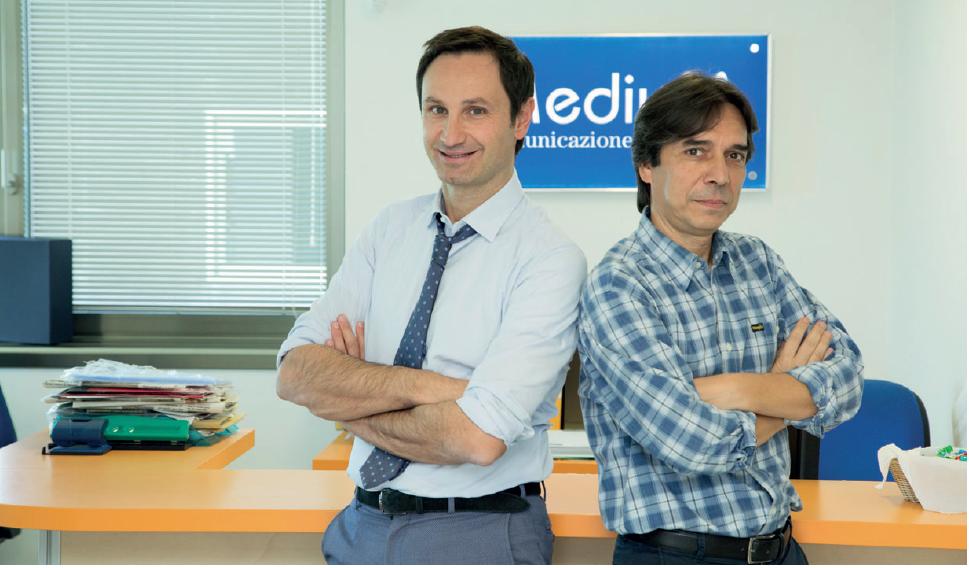 MEDIUM SRL, EDITORE INDIPENDENTE Alberico Cecchini e Stefano Carugno, i due soci fondatori