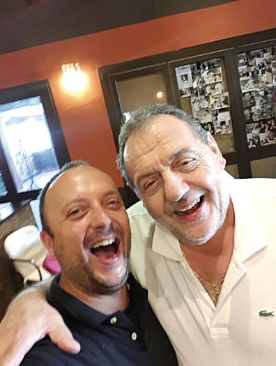 Gian Paolo Lunghi con lo chef Gianfranco Vissani