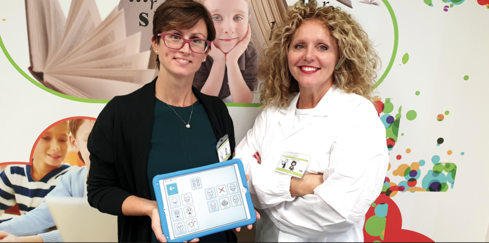Dottoressa Bergonzoli e Daria Migliorini - Da sin. la Terapista occupazionale di Sirio Medical, con la titolare della ditta