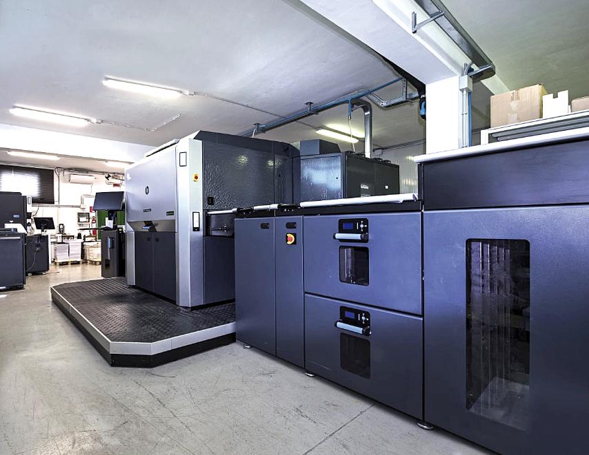 HP Indigo - Una delle stampanti di ultima  generazione di MDF srl