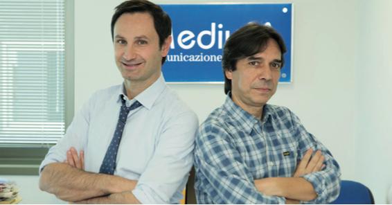 Alberico Cecchini e Stefano Carugno editori del Settimanale Il Caffè e di Acqua&Sapone, il mensile più letto nel Lazio con 1.174.000 lettori abituali (dati Ipsos)
